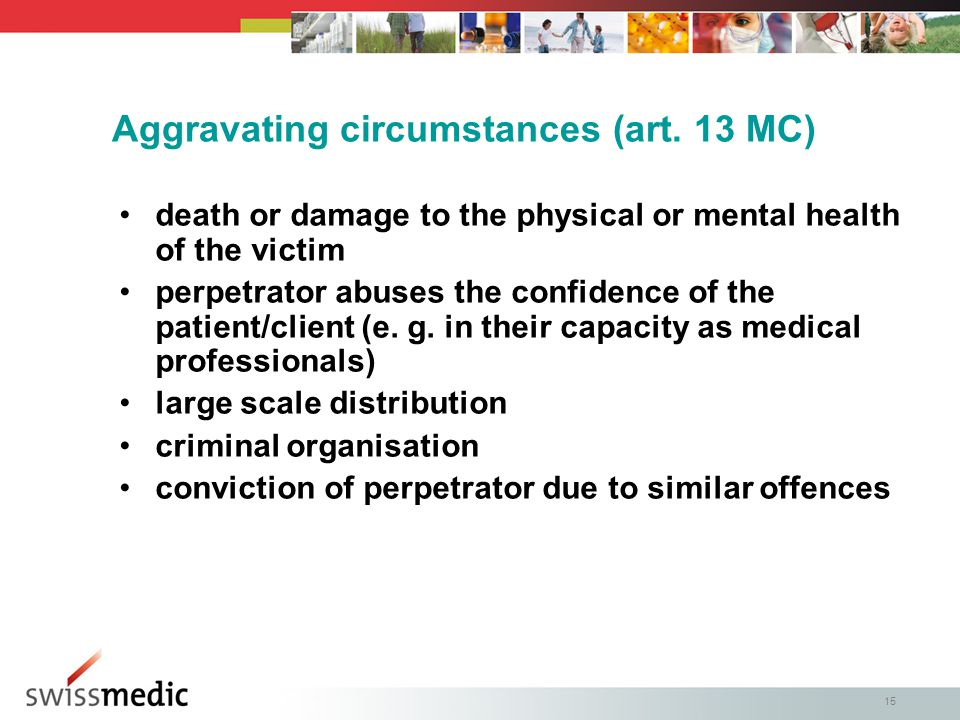 15 Aggravating circumstances (art.