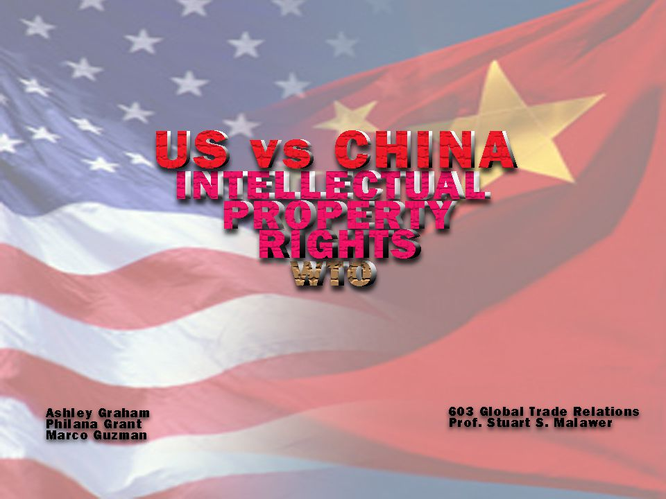 Observations US in talks with China for several years China had lax approach to enforcing Articles of the TRIPS Agreement Mutiple third party members (12 countries) Findings reaffirm significance of adherence to IPR