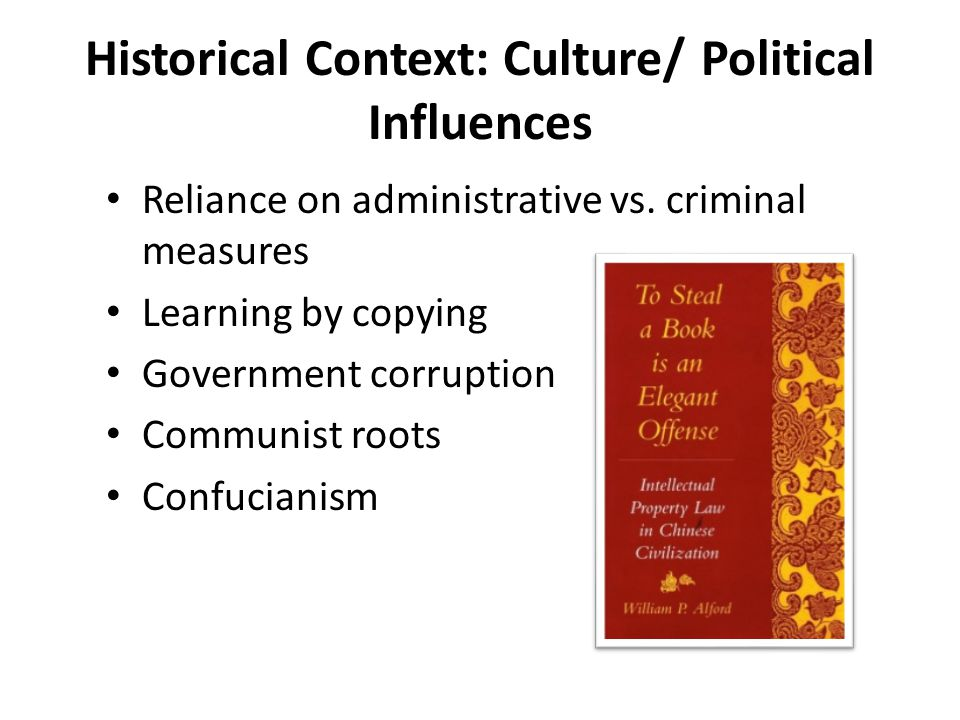 Historical Context: Culture/ Political Influences Reliance on administrative vs.