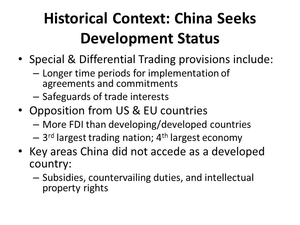 Historical Context: Perspective Most countries have history of commercial piracy – Ex: US was the leading nation in the 19 th century China is still in early stages of development