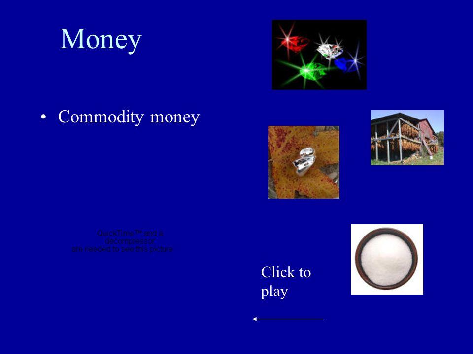 Money Commodity money Click to play