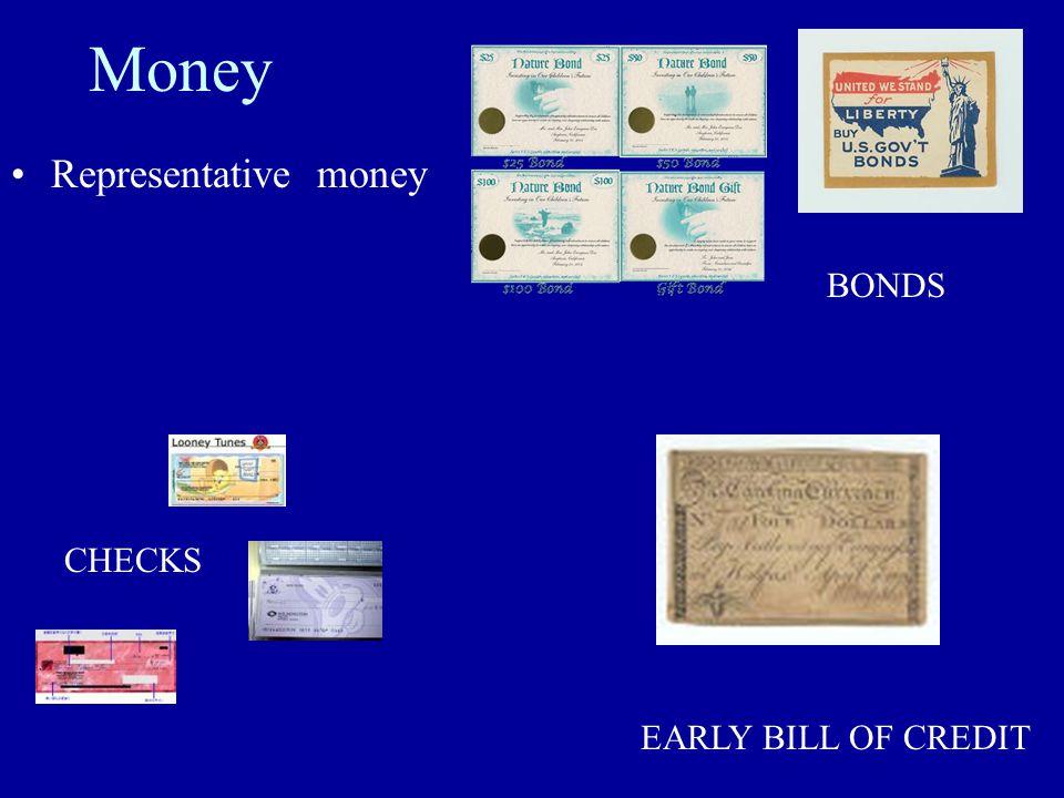 Money Representative money EARLY BILL OF CREDIT CHECKS BONDS