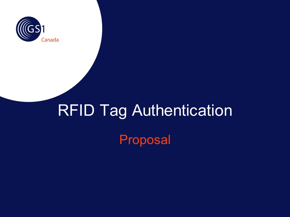 RFID Tag Authentication Proposal