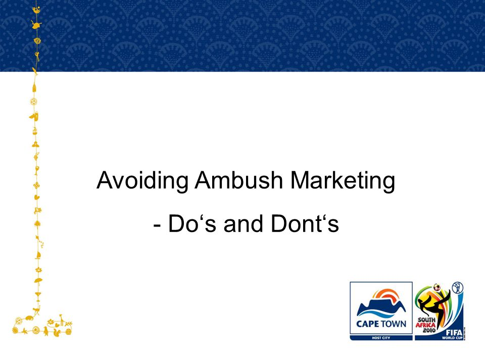 Avoiding Ambush Marketing - Do's and Dont's