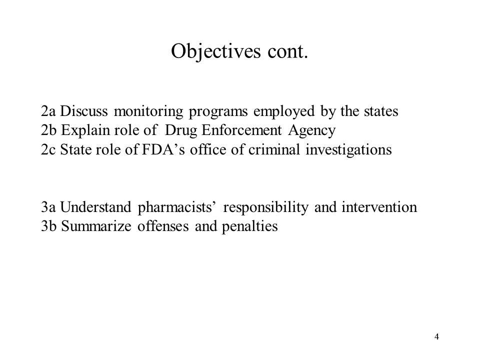 44 Objectives cont.