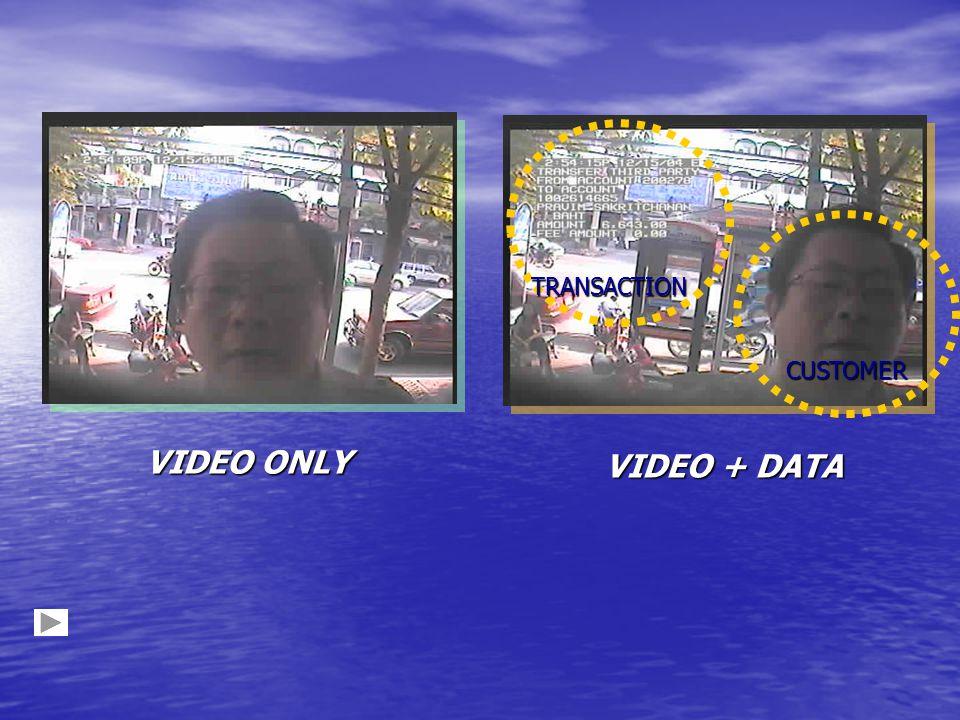 TRANSACTION CUSTOMER VIDEO ONLY VIDEO + DATA