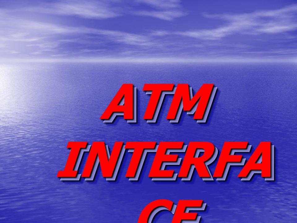 ATM INTERFA CE