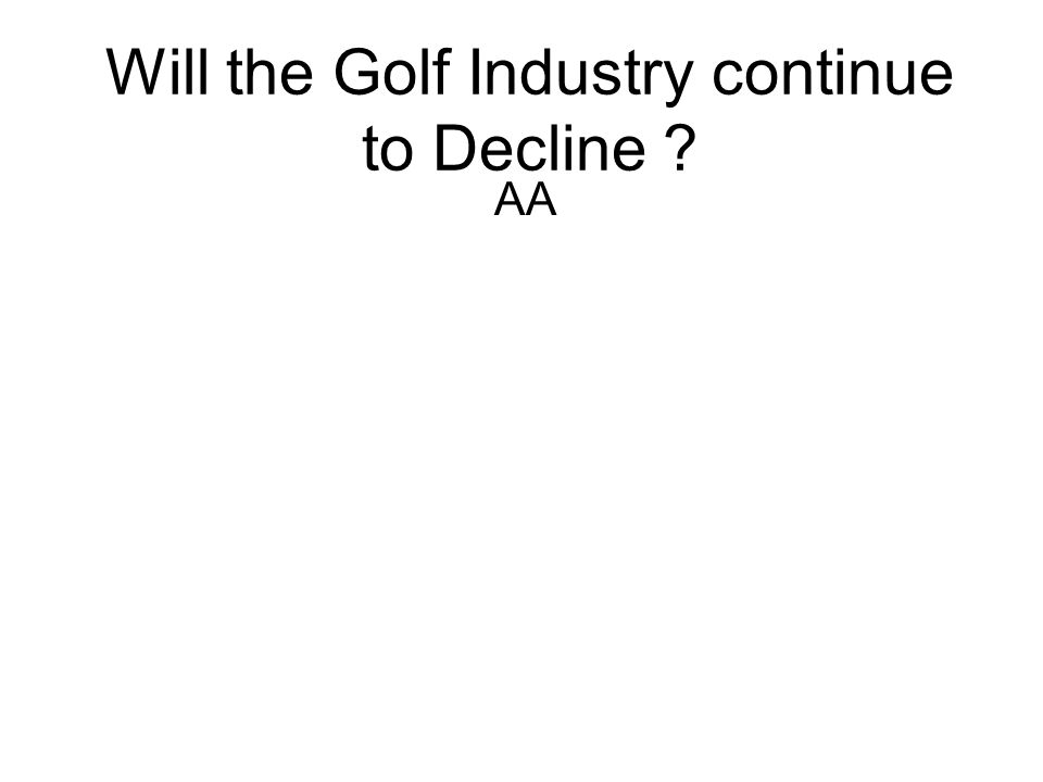 Will the Golf Industry continue to Decline ? AA