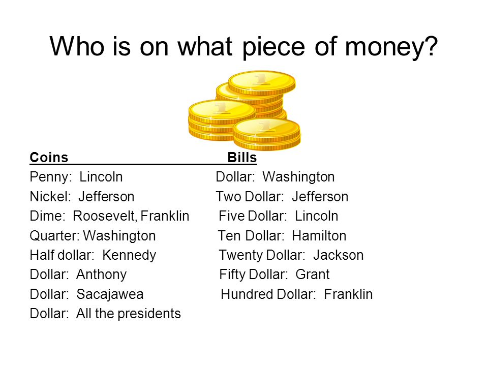 Who is on what piece of money.