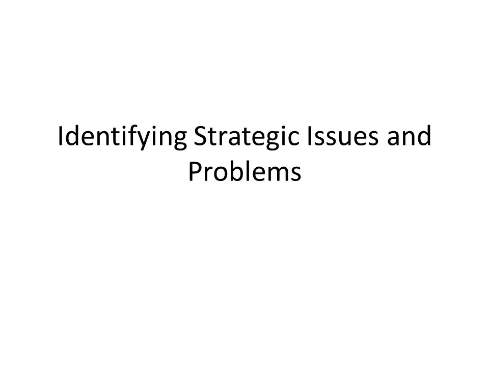 Strategic Issues and Problems The main strategic issues that Tiffany and Co.