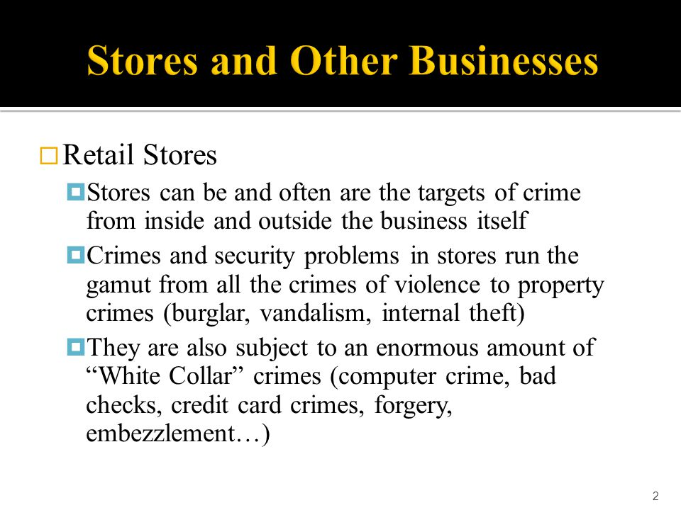  Banks  Other security methods used by banks to prevent robberies include:  Metal Detection Portals  Constructed of bullet resistant materials  When a weapon is detected  Alarms sound  Inner doors of the bank lock  Customer Assisted Depositories (like night drops) 43