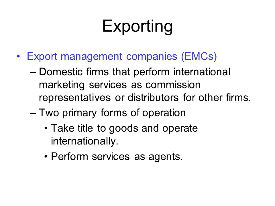 Basic differences between domestic and international logistics –Distance - Presence of firms in more than one country.