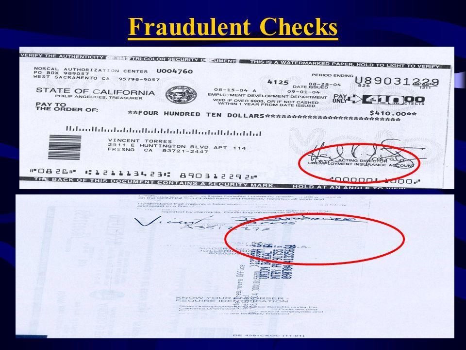Fraudulent Checks