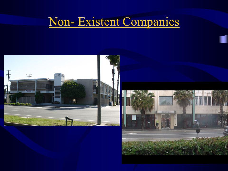 Non- Existent Companies