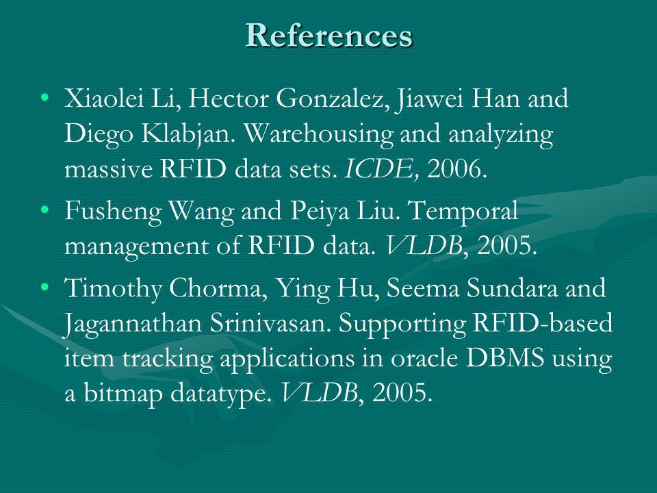 References Xiaolei Li, Hector Gonzalez, Jiawei Han and Diego Klabjan.