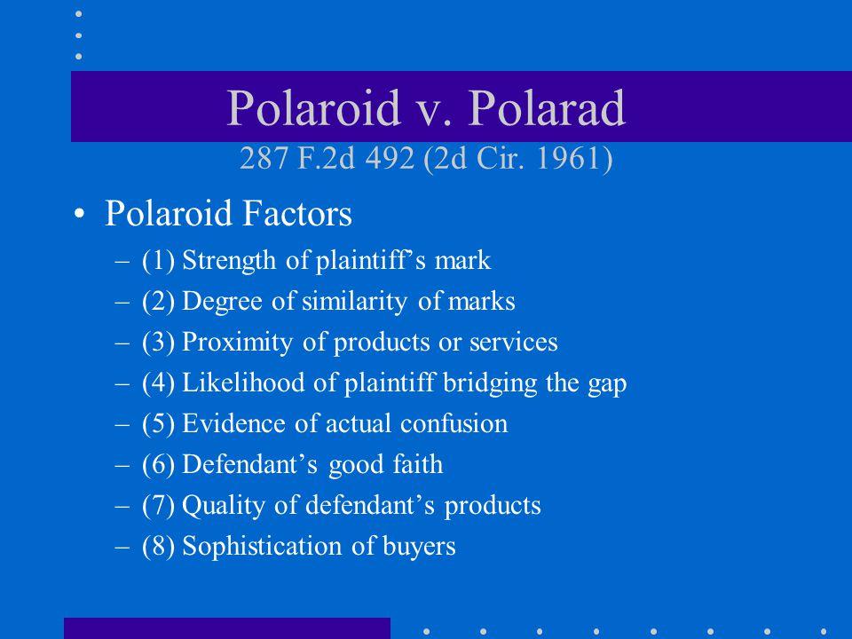Polaroid v.Polarad 287 F.2d 492 (2d Cir.