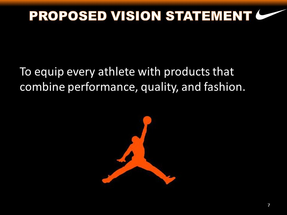 At Nike, we desire to deliver superior products to customers and athletes that are both safe and dependable (1, 2 and 6).