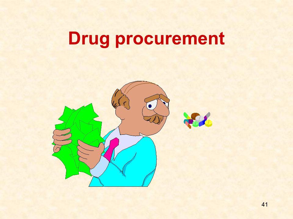 41 Drug procurement