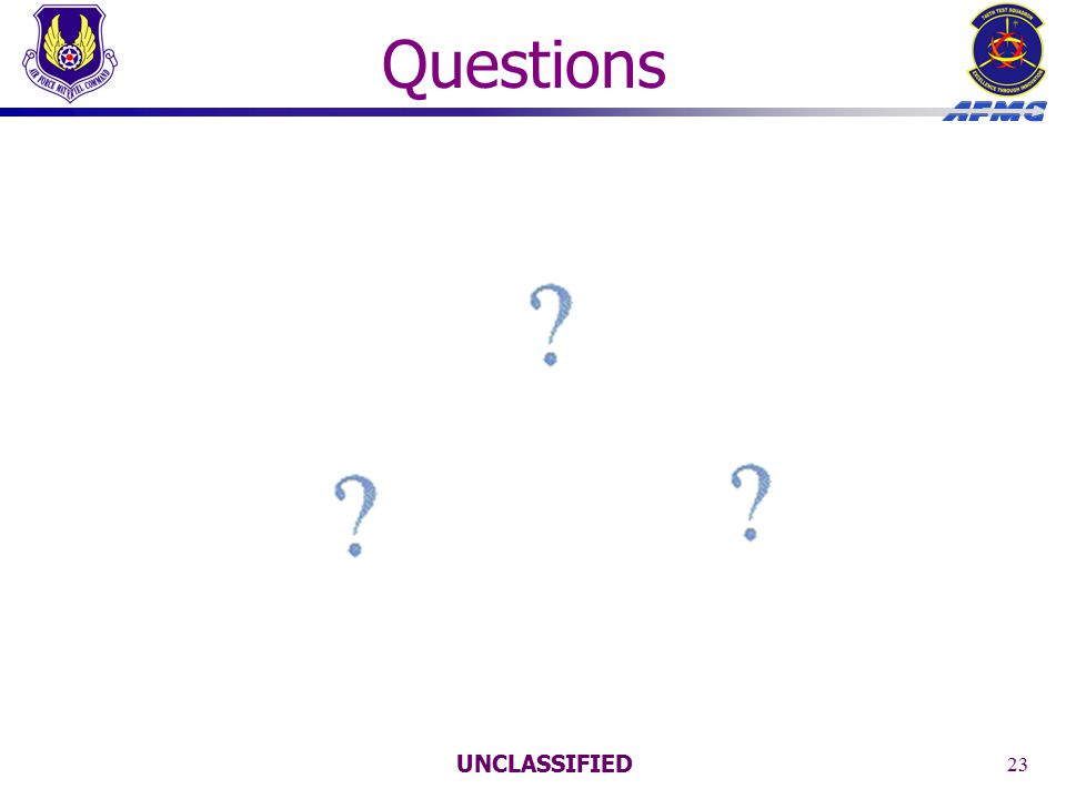 UNCLASSIFIED 23 Questions