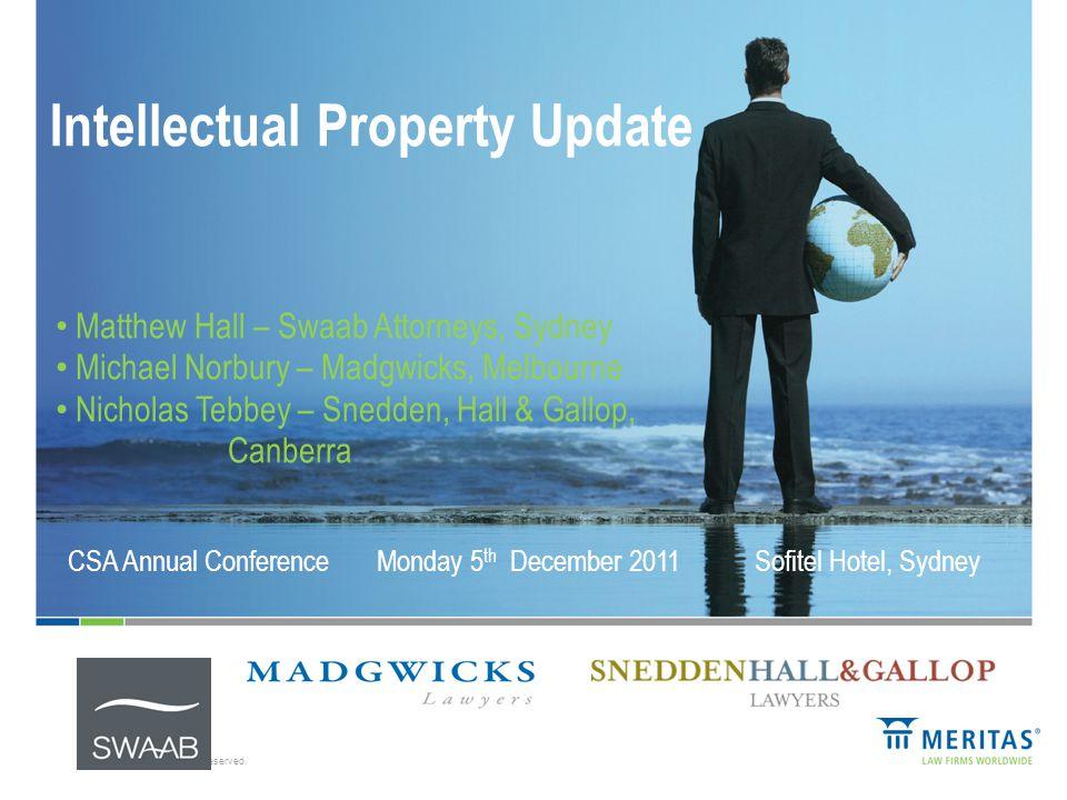Agenda 1.Impact of PPSA on IP - Matthew Hall 1.Stamp Duty & IP – Michael Norbury 1. Raising the Bar : A new era of IP protection – Nicholas Tebbey 1.