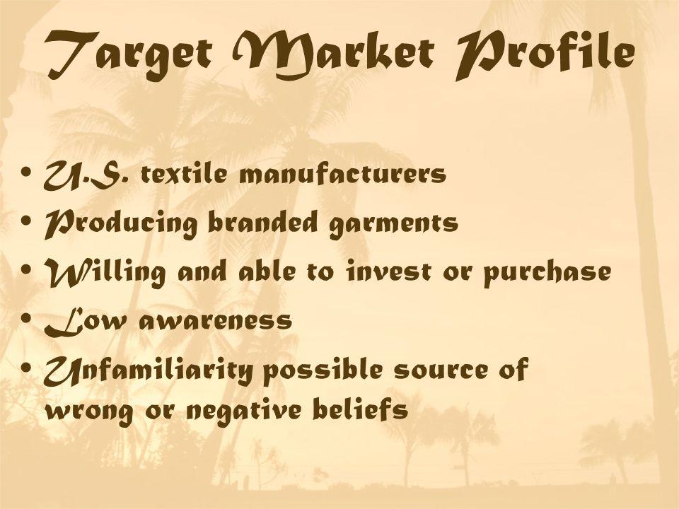 Target Market Profile U.S.