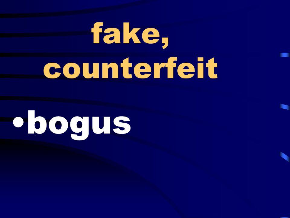 fake, counterfeit bogus