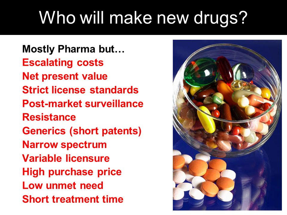 Who will make new drugs.