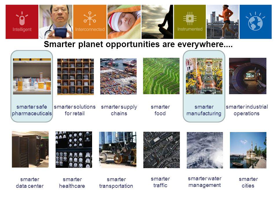 2 smarter traffic smarter water management smarter healthcare smarter food smarter supply chains smarter cities smarter safe pharmaceuticals smarter d