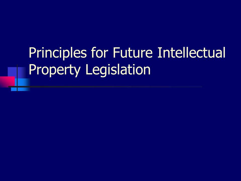 Principles for Future Intellectual Property Legislation