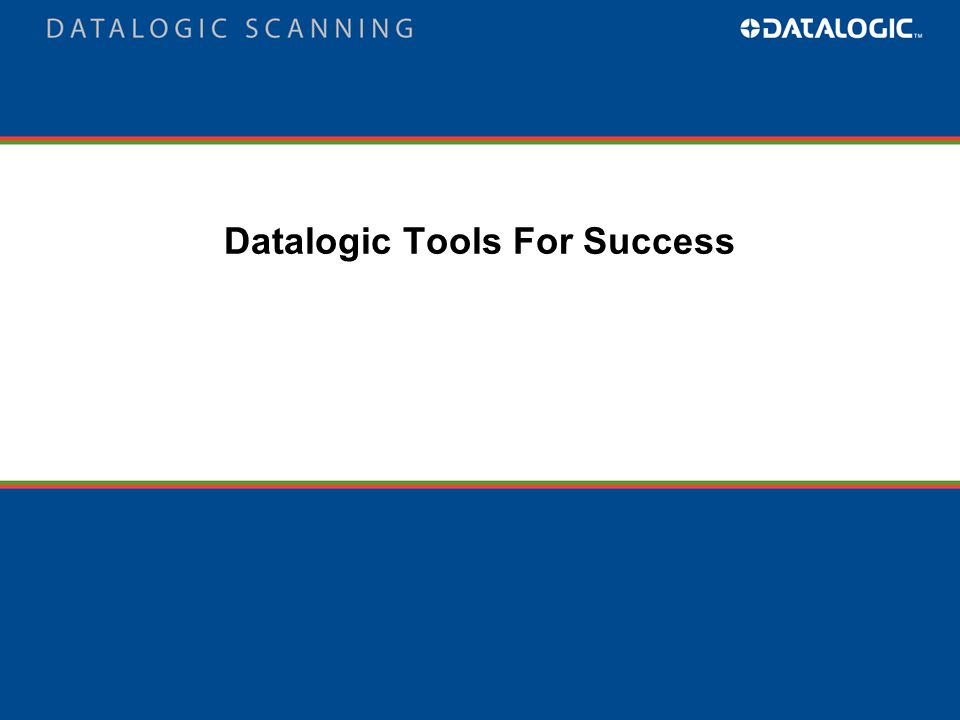 Datalogic Tools For Success
