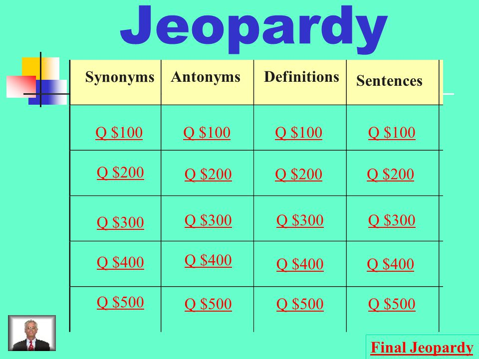 $500 Question from Antonyms urban, metropolitan, citified