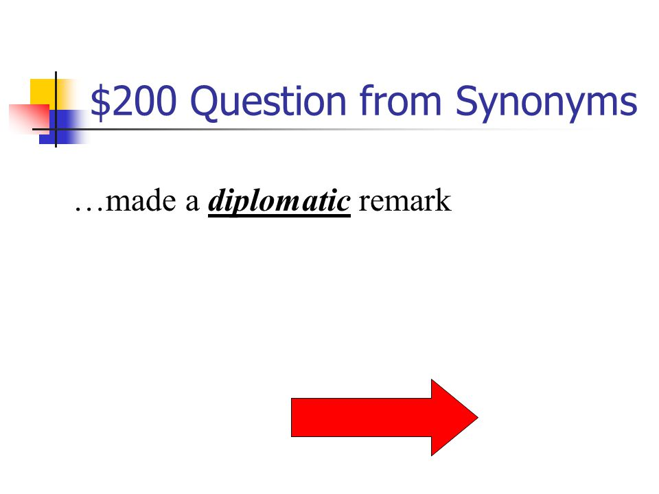 $200 Question from Antonyms …lives in a metropolitan area