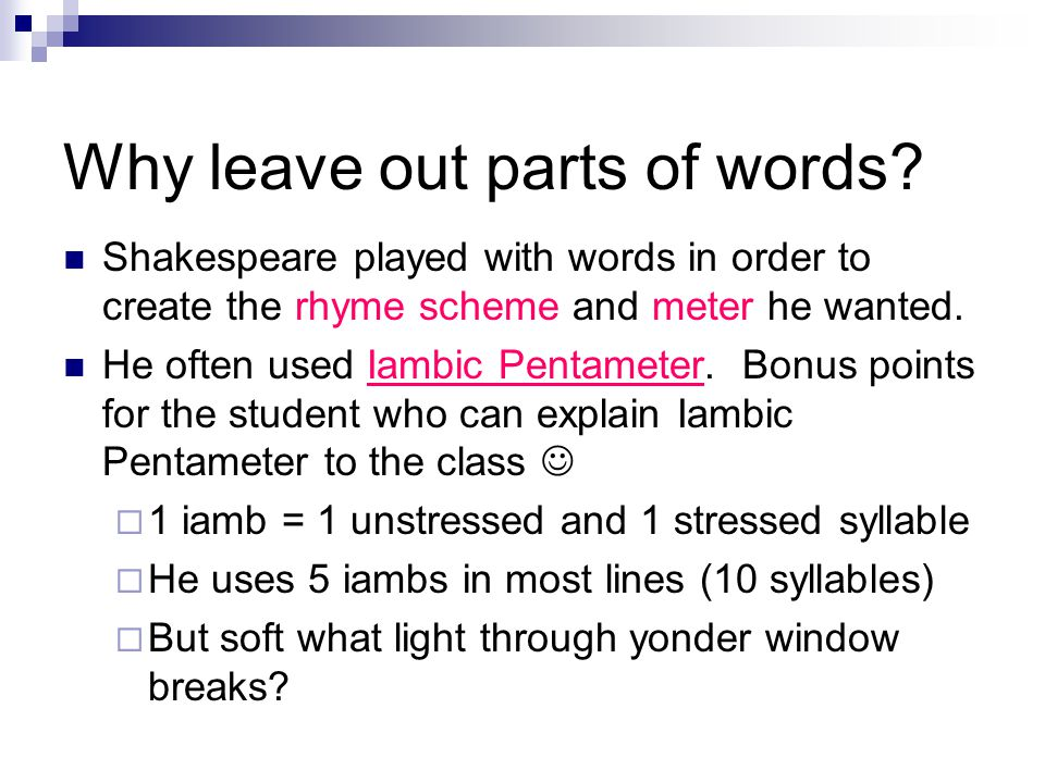 Shakespeare Bootcamp Homework: Respond to the questions and take notes as directed