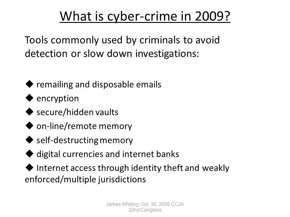 What is cyber-crime in 2009.