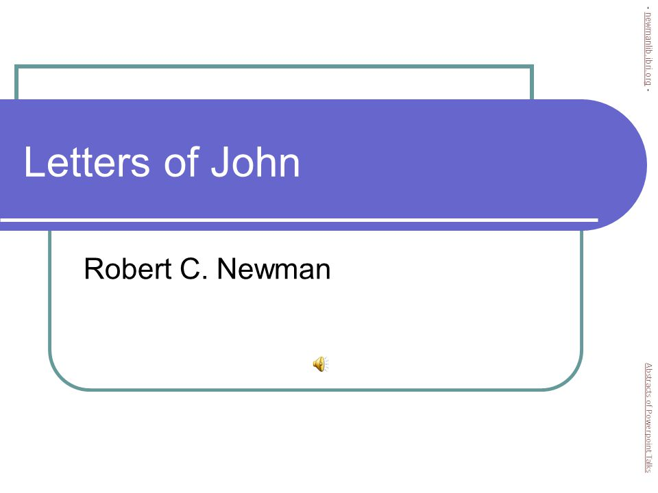 Letters of John Robert C.