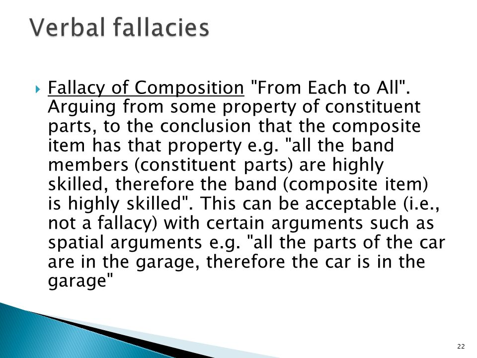  Fallacy of Composition
