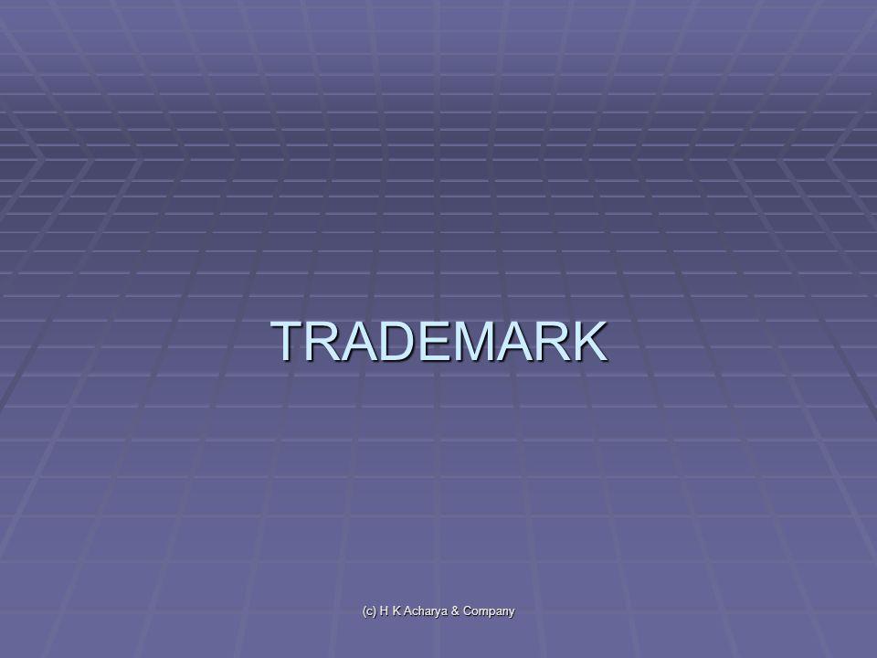 (c) H K Acharya & Company TRADEMARK