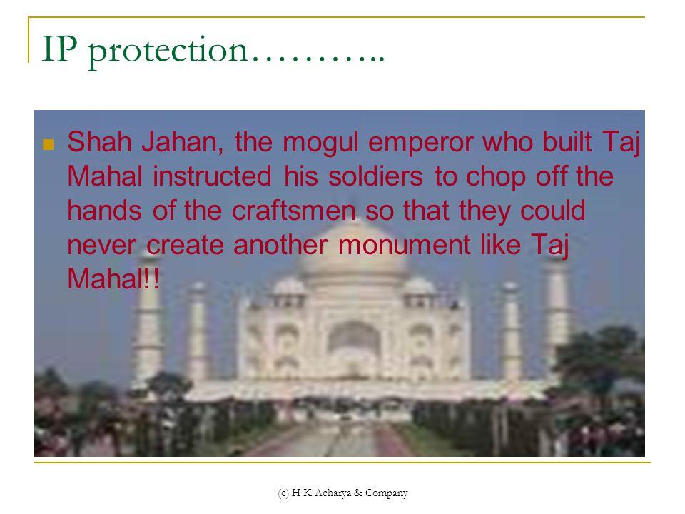 (c) H K Acharya & Company IP protection………..