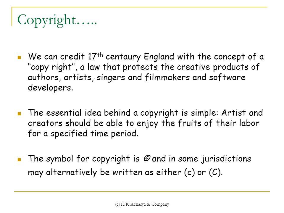 Copyright…..