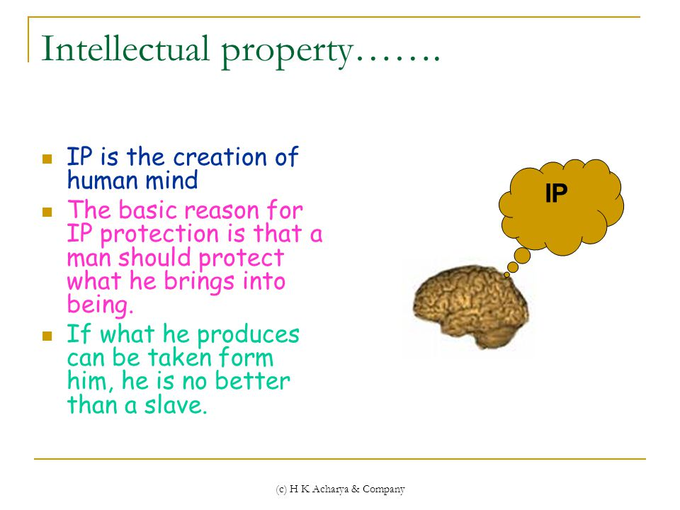 (c) H K Acharya & Company Intellectual property…….