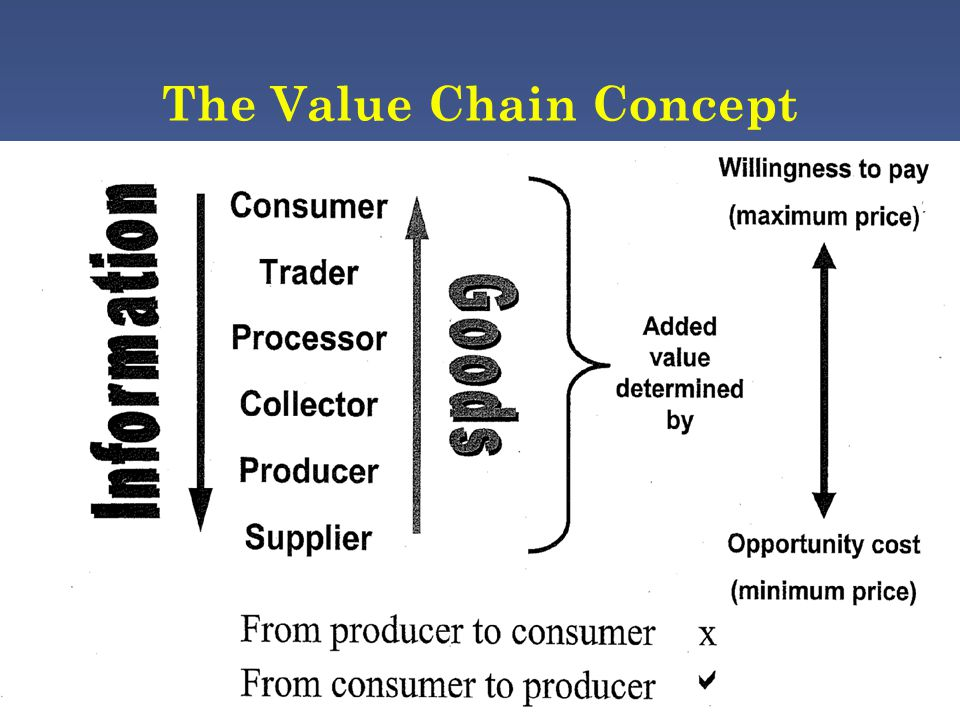 The Value Chain Concept