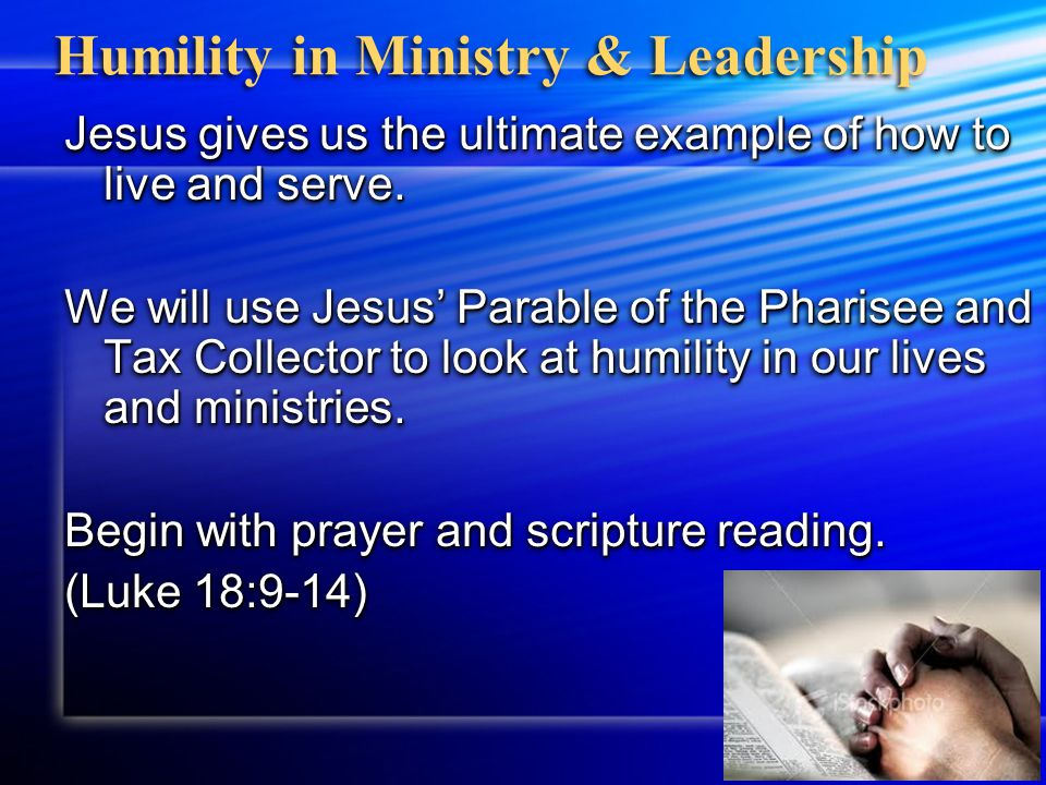The Spiritual Discipline of Humility The first test of a truly great man is his humility.