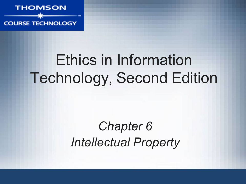 Ethics in Information Technology, Second Edition22 Patents (continued) Defensive publishing –Alternative to filing for patents –Company publishes a description of the innovation –Establishes the idea's legal existence as prior art –Costs mere hundreds of dollars –No lawyers –Fast