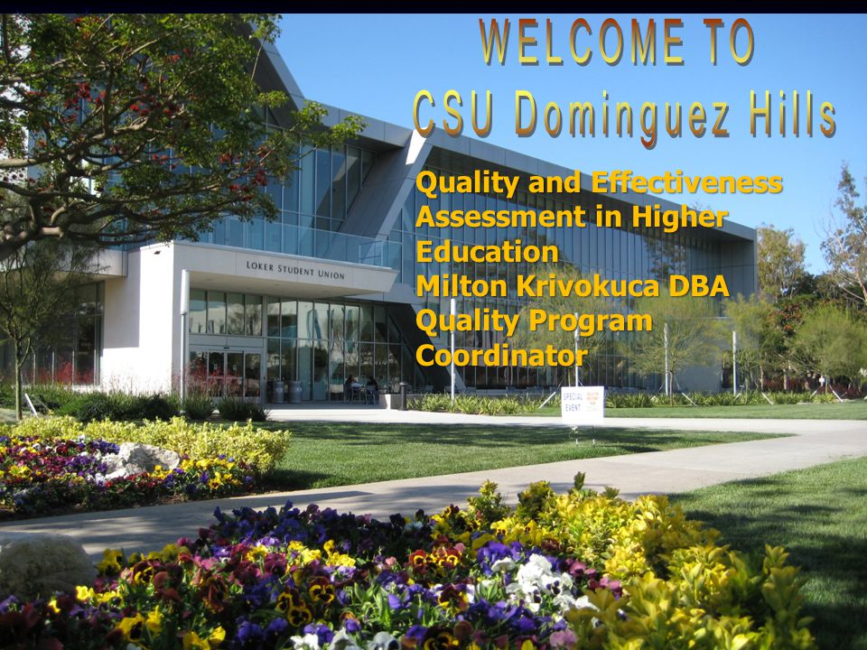 Quality and Effectiveness Assessment in Higher Education Milton Krivokuca DBA Quality Program Coordinator