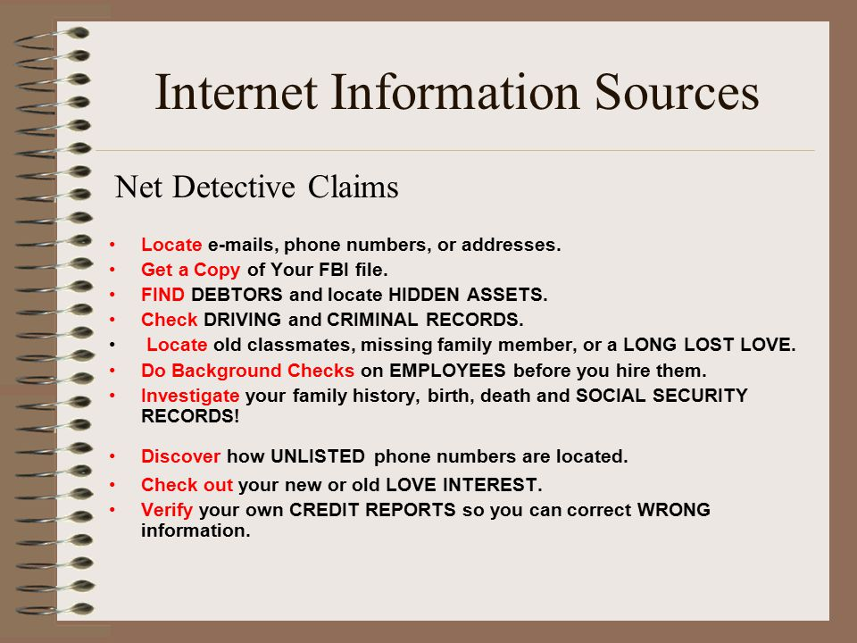 Net Detective Claims Track anyone s Internet ACTIVITY; see the sites they visit.