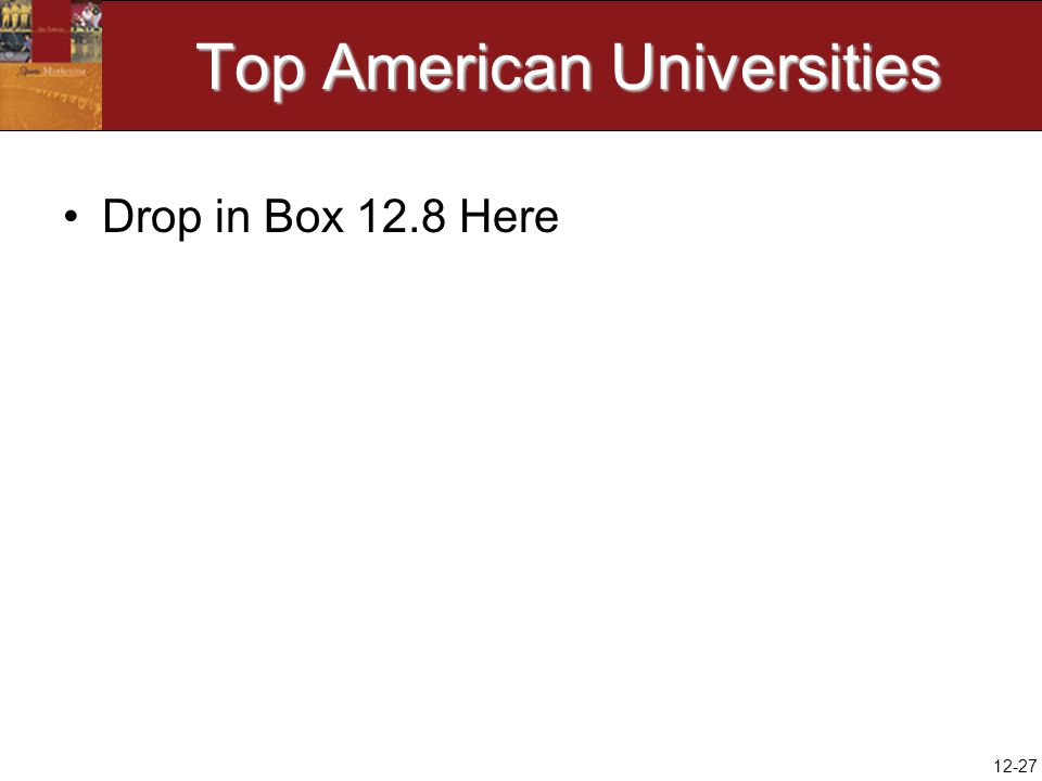 12-27 Top American Universities Drop in Box 12.8 Here