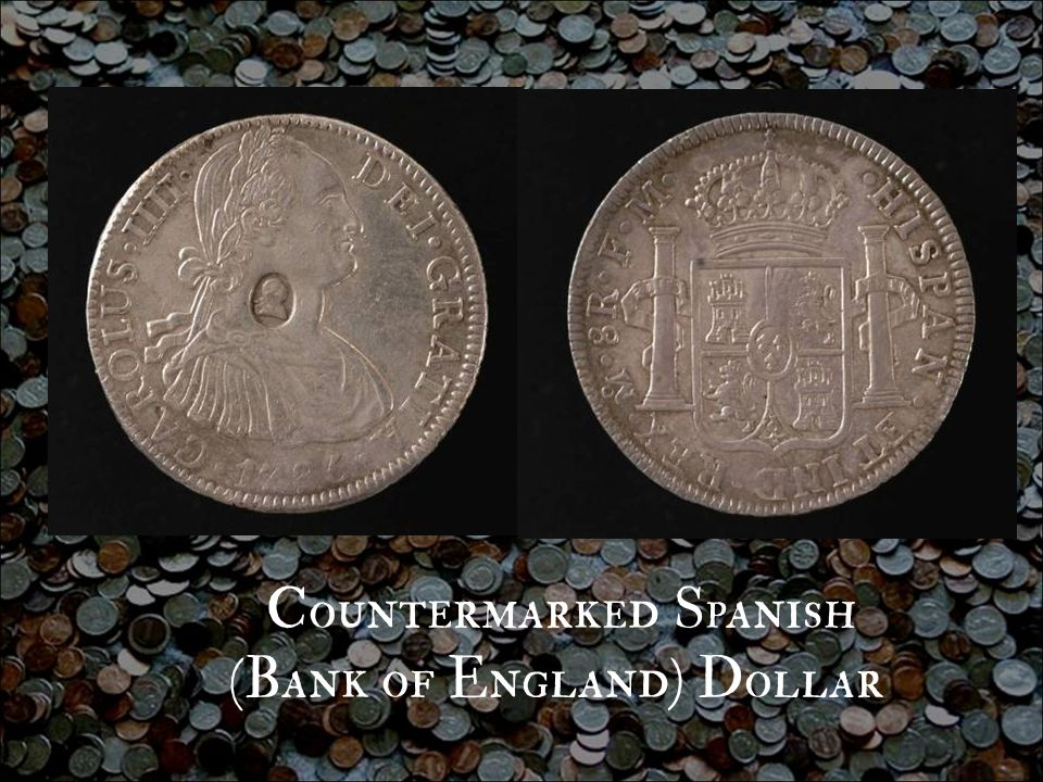 Countermarked Spanish (Bank of England) Dollar