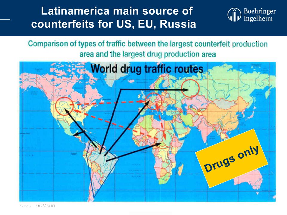 27.10.2006Dr. Heike Bockholt Securing the pharmaceutical supply chain WEC-IEF-European Roundtable Latinamerica main source of counterfeits for US, EU,