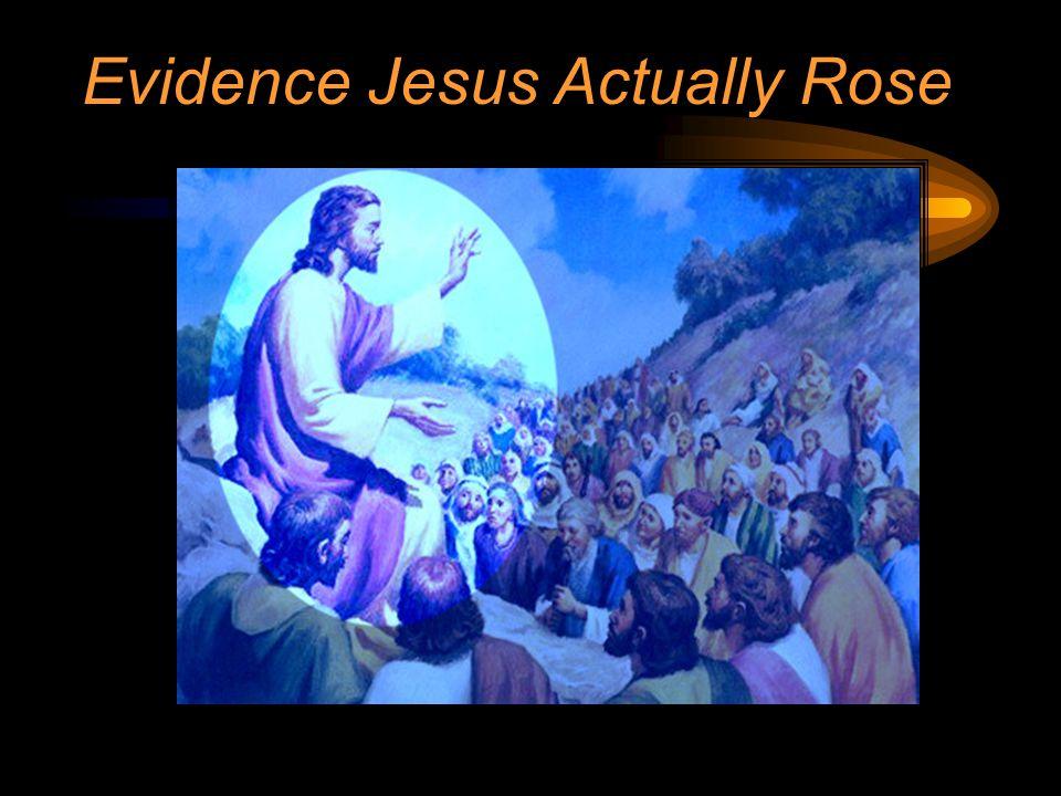 Evidence Jesus Actually Rose