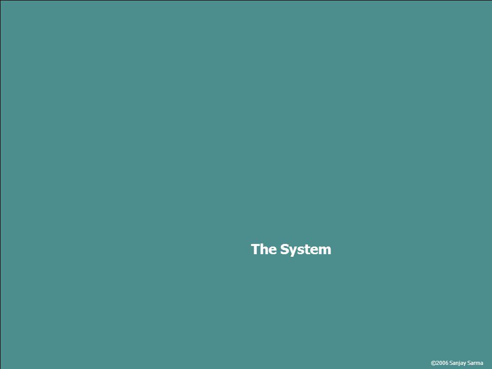 ©2006 Sanjay Sarma The System